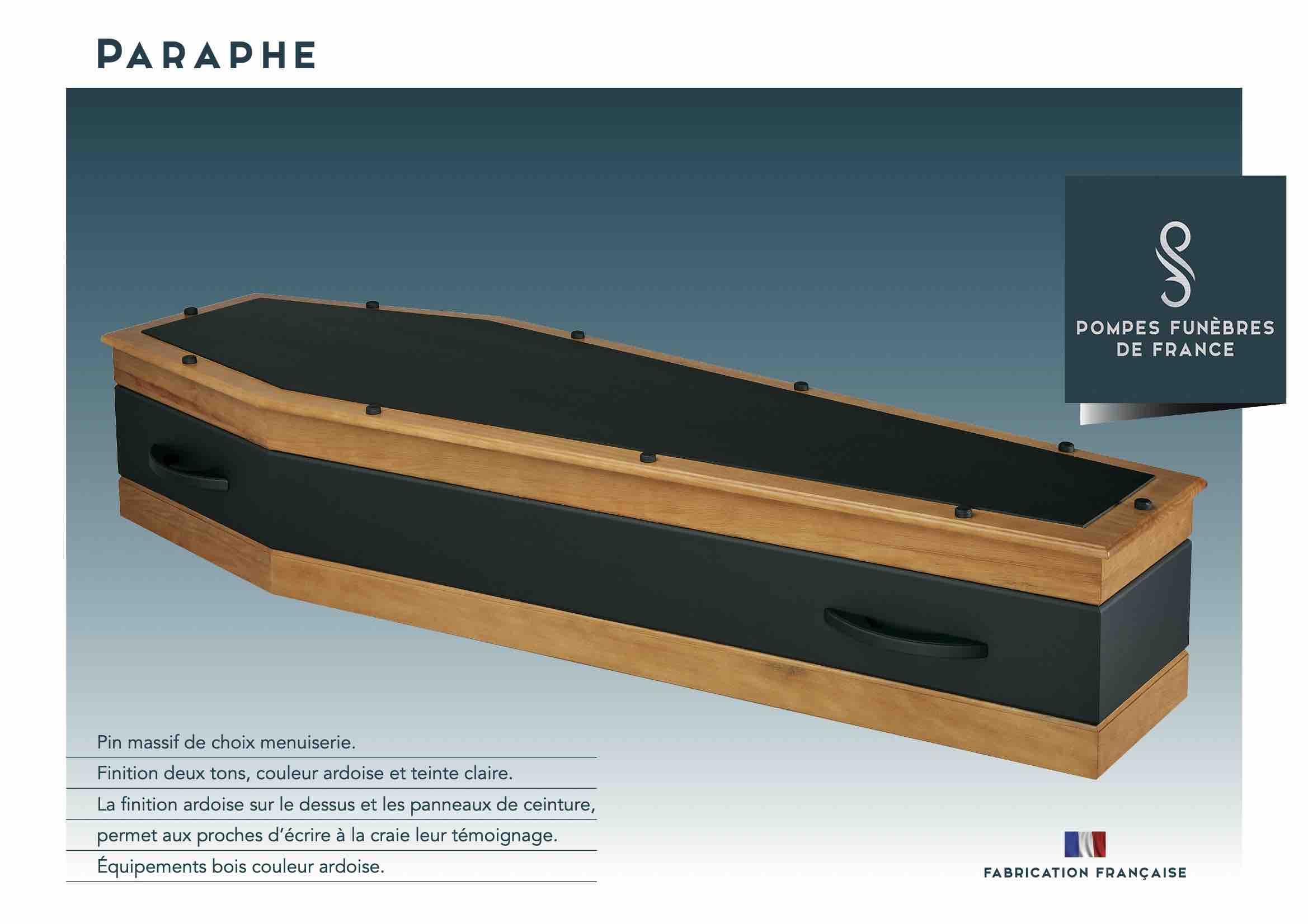 Cercueil Paraphe