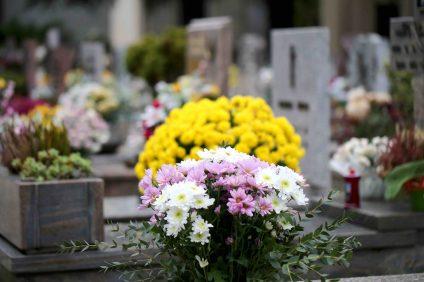 fleurs tombe cimetière